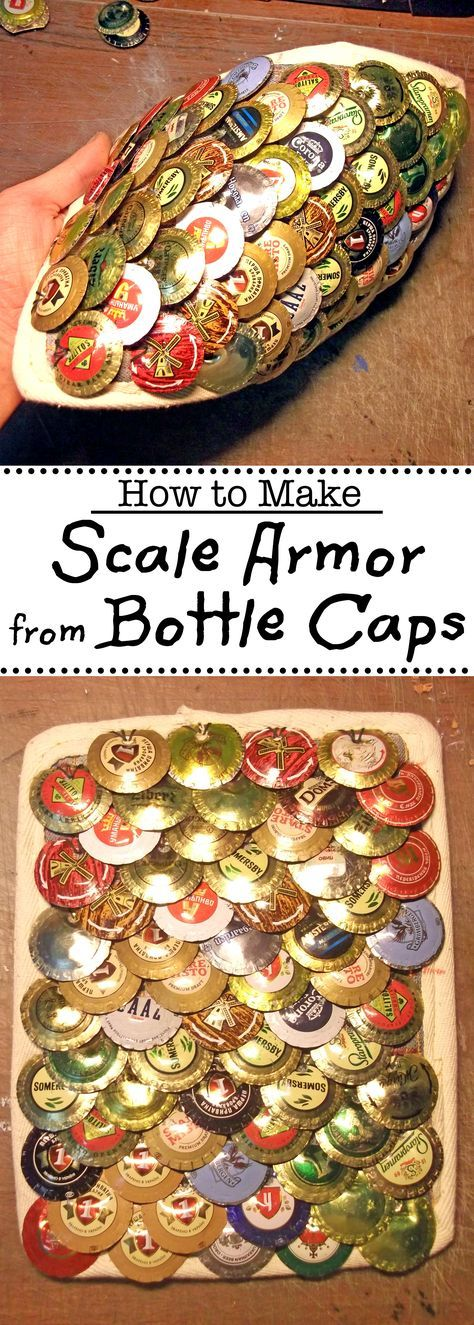 Bottle caps are a great alternative to soda tab armor.