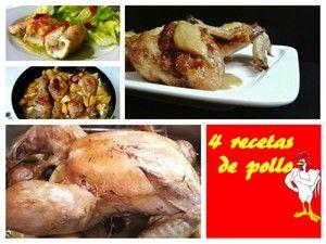 4 maneras de preparar pollo