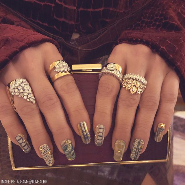 Most Expensive Celeb Manis Of All Time Nailstyle Art Trends Celebrity Nails Stiletto Nails