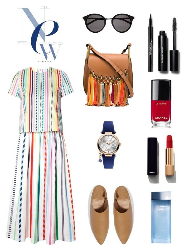 new bohemian by mina-nurminen on Polyvore featuring polyvore fashion style Mira Mikati Acne Studios Chloé Vivienne Westwood Yves Saint Laurent Trish McEvoy Chanel Bobbi Brown Cosmetics Dolce&Gabbana clothing fashionhoroscope stylehoroscope