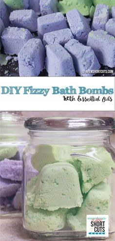 Relax in style. Your bathroom turns into a spa with these Easy to make DIY Fizzy Bath Bombs with Essential Oils. Great for yourself, or gift giving.