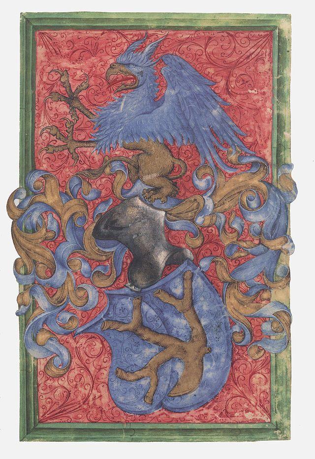 Hausbuch Wolfegg 02r Wappen - Category:Mittelalterliches Hausbuch von Schloss Wolfegg – Wikimedia Commons