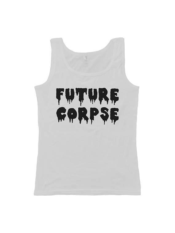 Future Corpse  Womens Tank Top  Horror  Punk  Alternative