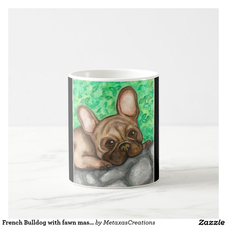 French Bulldog with fawn mask mug
