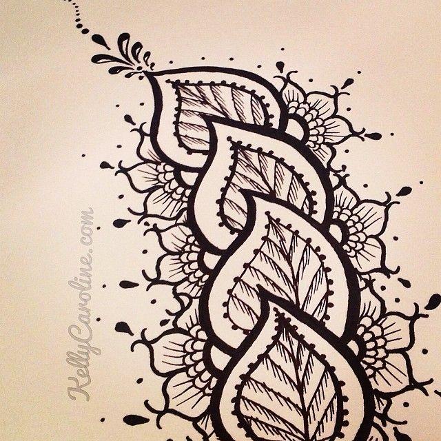 25 Best Henna Leaves Ideas On Pinterest Henna Patterns Hand Mehandi Design Simple And Simple