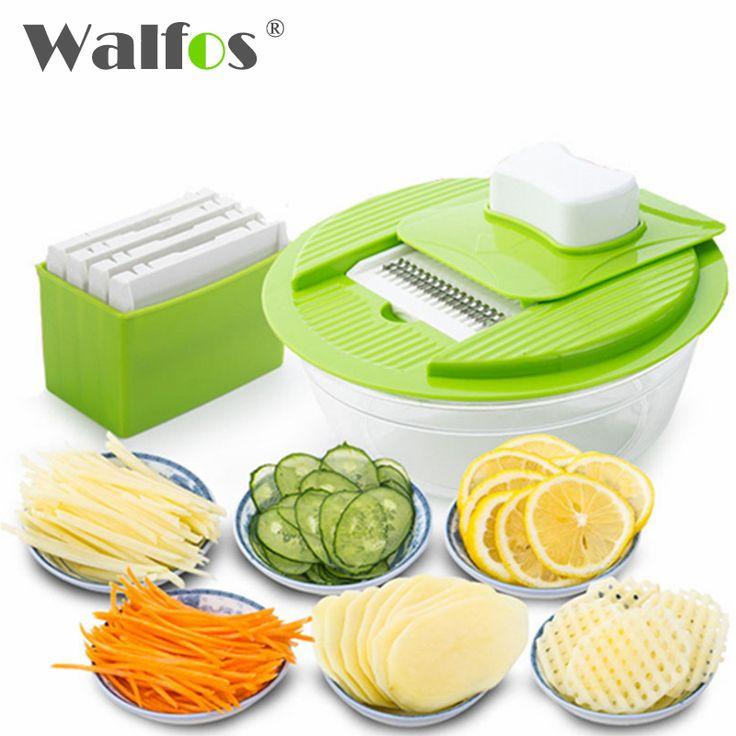 Mandoline Vegetable Slicer Dicer Fruit Cutter Slicer With 4 Interchangeable Stainless Steel Blades Potato Slicer Tool