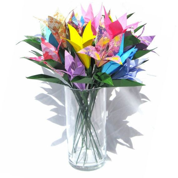 Origami Bouquet Origami Lily Bouquet for Mothers by GraceinCrease