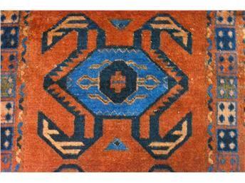 Orientalisk handknuten gångmatta med vackert mönster, ca 80 x 300 cm. NYTVÄTTAD!