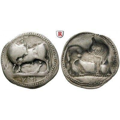 Italien-Lukanien, Sybaris, Stater 560-510 v.Chr., ss/ss+: Stater 30 mm 560-510 v.Chr. Stier steht l. mit zurückgewandtem Kopf /… #coins