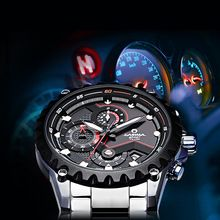Relógio dos homens de aço inoxidável relógio de quartzo moda luminosa cronómetro cronômetro à prova d' água 100 m CASIMA esportes ao ar livre #8203(China (Mainland))