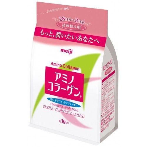 Биодобавка Коллаген  глюкозамин Amino Collagen MEIJI в мягкой упаковке