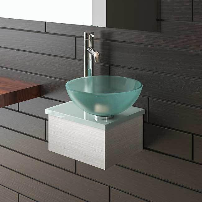 Design Waschschale Gaste Wc Aufsatz Waschtisch Aus Glas