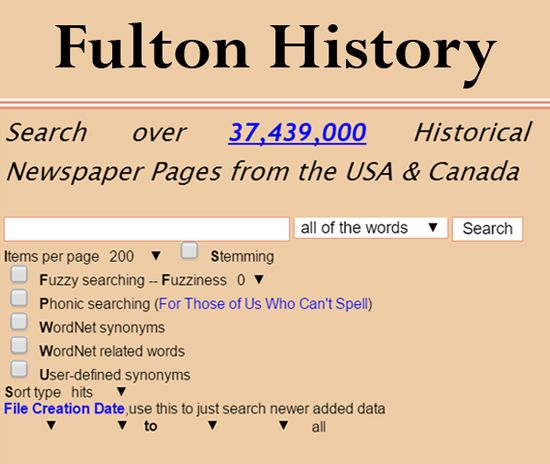 USA & Canada newspapers are searchable for free from the Fulton History website.