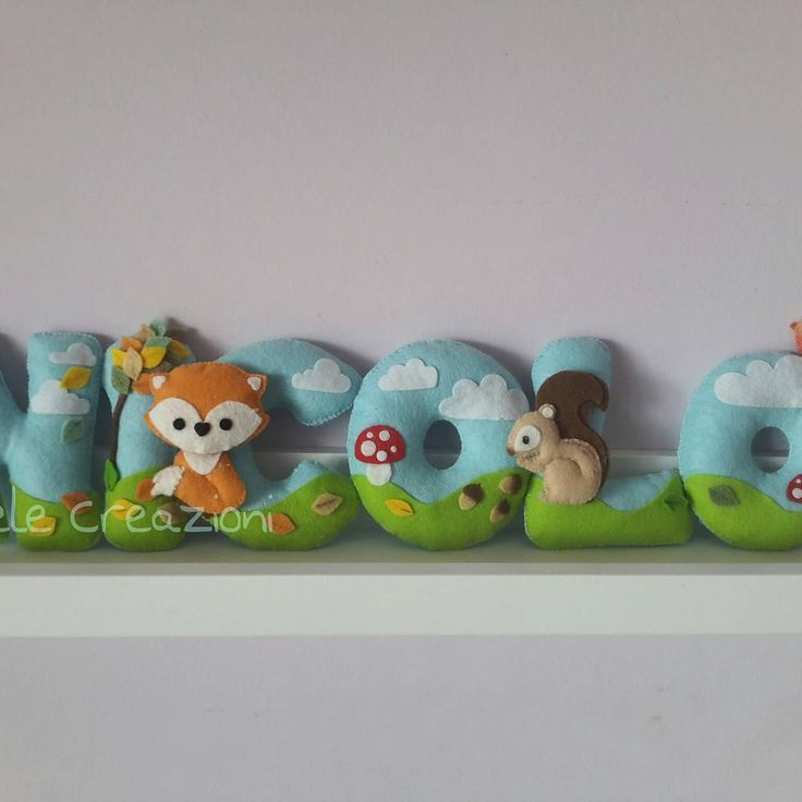 Banner per il piccolo Nicolò.  #feltro #felt #pannolenci  #autunno2015  #autumnleaves  #squirrel #scoiattolo #soele #nicolò #azzurro  #babyboy  #banner #fox #fattoamano  #handmadewithlove #handmade  #autumn
