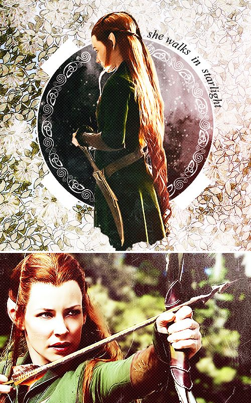 "Tauriel: ""…in another world."" #thehobbit"
