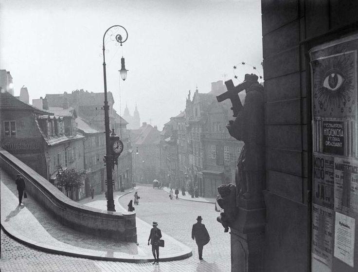 Jaroslav Petrák | Nerudova Street from Radniční schody, 1910 | Prague