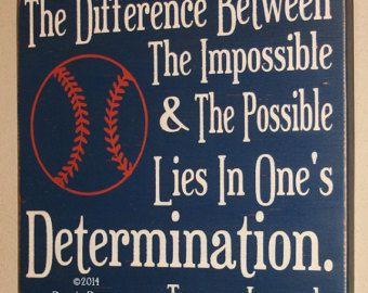 Baseball Decor Baseball Sign Baseball Quote Wooden by DeenasDesign