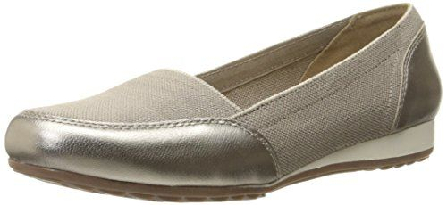 Skechers Roma slip-on Loafer, (Taupe Canvas), 38 EU