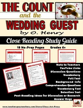 "O  Henry: ""The Count and the Wedding Guest"" Close Reading"
