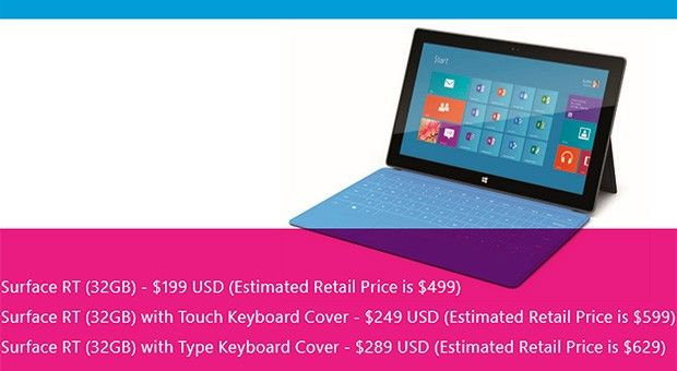 Microsoft offering Surface RT tablets for $199 to educational institutions
