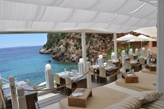 Amante Beach Club, Ibiza.  Allow yourself the treat of watching a day pass by sitting amidst these beautiful surroundings.  Rent a daybed for ultra indulgence. If you enjoy Yoga, a 2 min walk will take you to a beautiful outdoor garden studio in The Garden of Joy at Yogashala Ibiza.