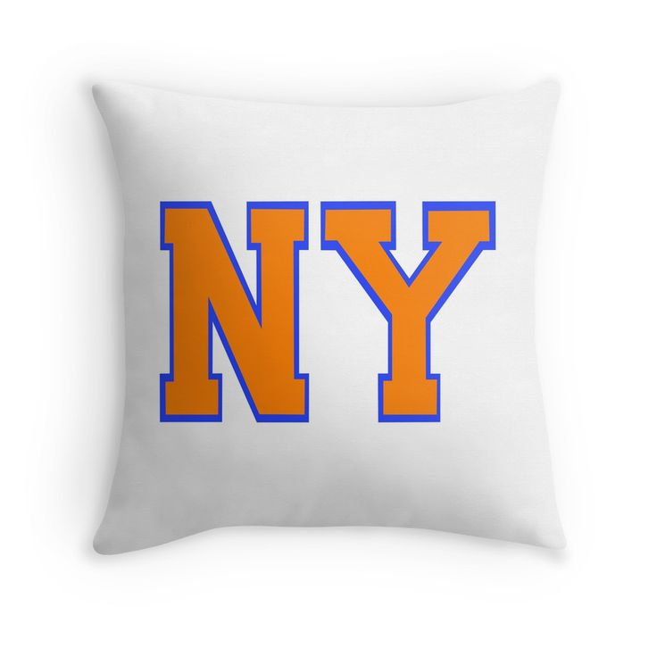 If you love watching the New York Knicks Basketball team, then you will love this NY in New York Knicks colors throw pillow.