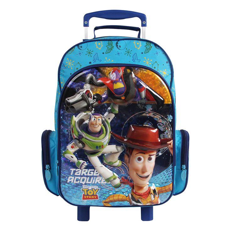 Mochila Escolar com Rodinhas Dermiwil Toy Story Disney 30432 Azul - Imagem aumentada 1 de 3