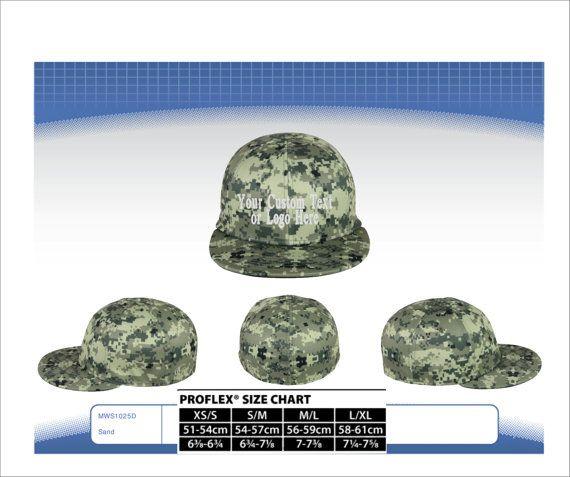 Custom Text or  Logo Embroidered On Pro Flex Fit Flatbill Bill Hat Performance Q3� Fabric. Digital Camo Hat. Digital Camo Flex Hat. Camo Hat
