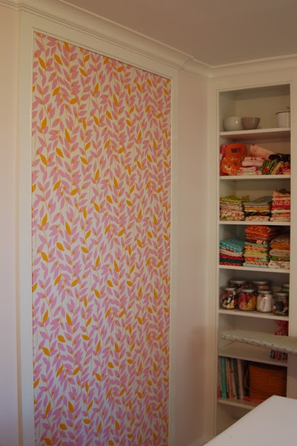 fabric covered tack board tutorial | lots of pink here!