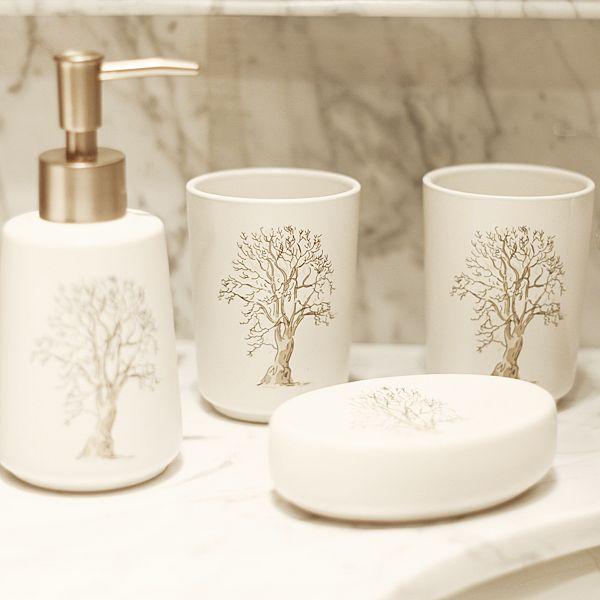 moda soyut ağaç dört adet banyo seti seramik banyo malzemeleri büyük banyo aksesuarları