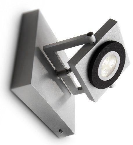 Inspirational Philips Ledino LED Wandspot Format flammig dimmbar W hellgrau