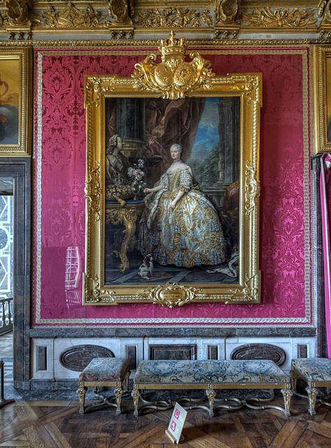Versailles, Salon de Mars, Leszczinska Mary, Queen of France, wife of Louis XV, painted by Van Loo
