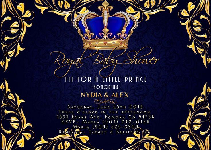 royal baby shower invitation royal prince
