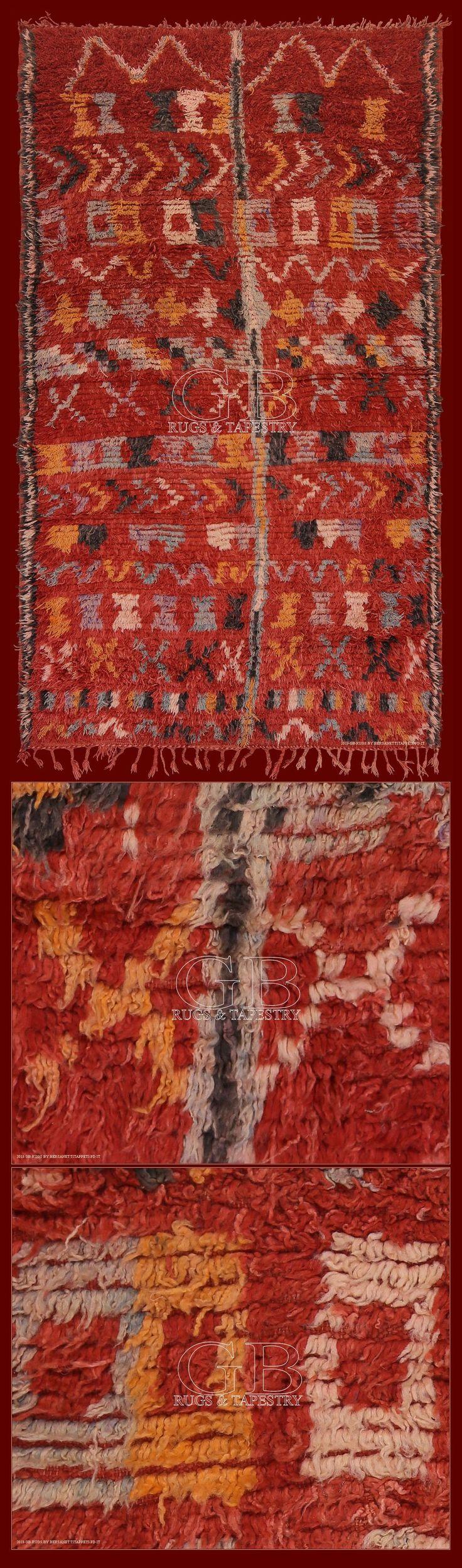 Tappeto berbero boujad, Marocco, <h2>tappeti berberi della prima metà del novecento, sono straordinari esempi di tappeti tribali</h2> <strong>collezione t