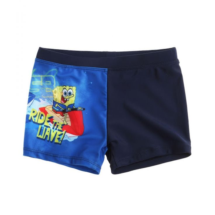 Slip de baie tip boxeri Sponge Bob denim