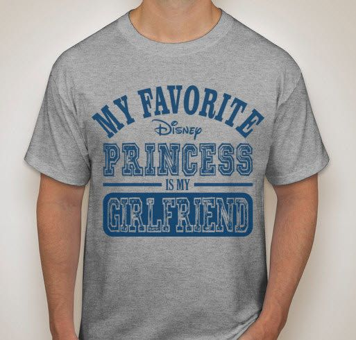 Show your love and affection for your girlfriend with this shirt especially designed for Disney Fans who love their girlfriend. A great gift for