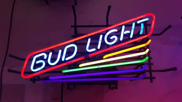 Bud Light Neon Sign Glass Tube Neon Light