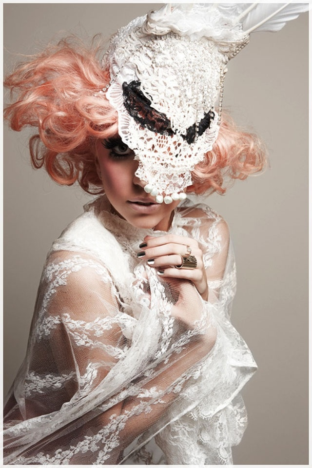 Lady Gaga, completely flawless; this photograph is beautiful, and her look is so couture <3