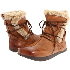 Women's Kalso Earth Central Too Brown Almond Vintage Leather PullOn Boot