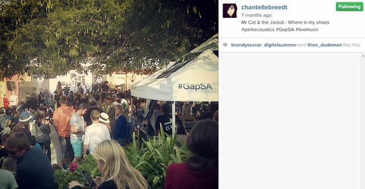 Another pic from #GapSA #ParkAcoustics from Chantelle