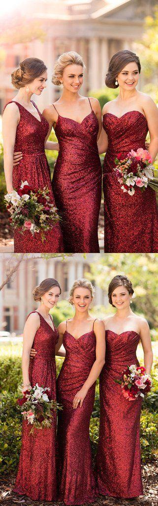 Wedding Bridesmaid Dress, Wedding Bridal Gown, Maxi Bridesmaid Dress, V Neck Sequin Long Bridesmaid Dress Wedding Party Formal Gown