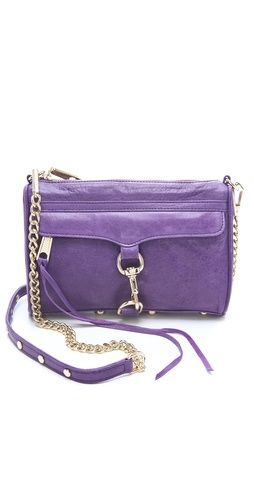 Love the purple. Rebecca Minkoff Mini MAC Bag.