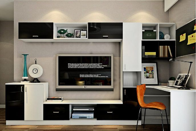 Staggering Computer Desk Tv Stand Combo Photo Ideas Living