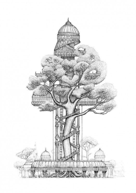 75 Best Treehouse Art Images On Pinterest