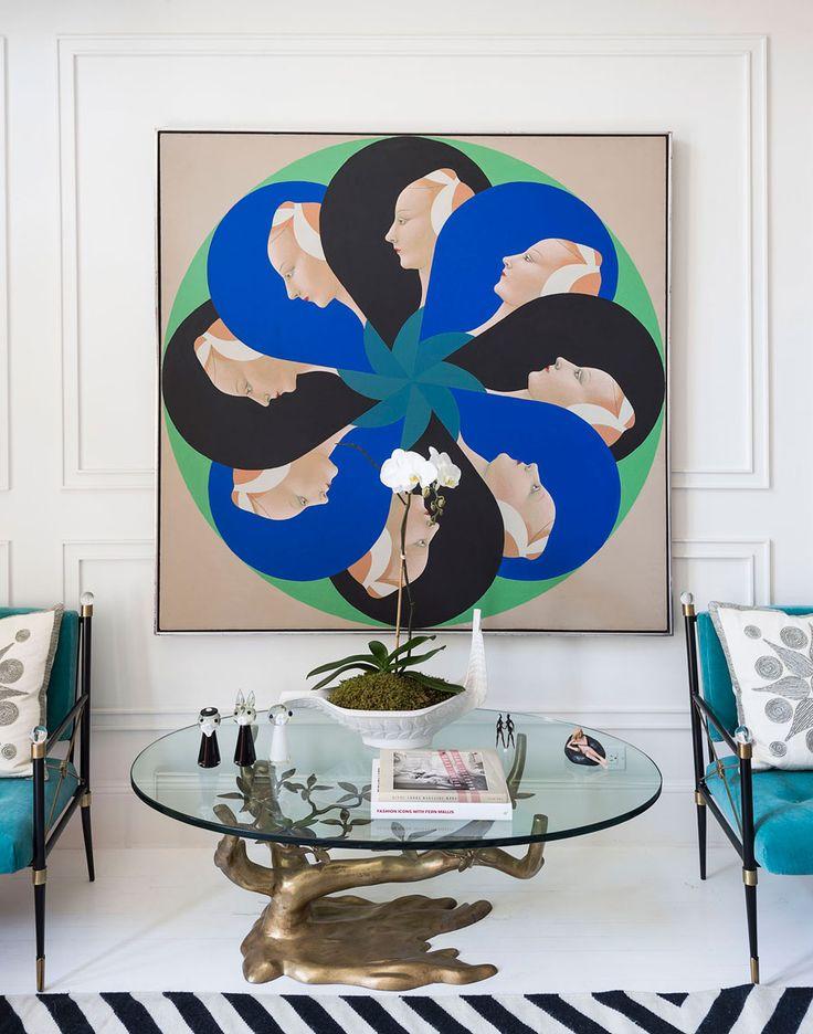 Jonathan Adler and Simon Doonan's eclectic NYC home.
