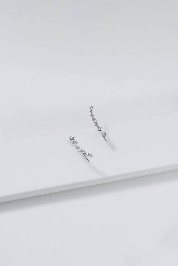 Star Cuff Earring / Diamond Star earring / Cuff Earring /