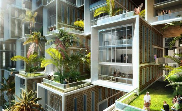 """Coral Reef"" futuristic #Eco Village by Vincent Callebaut"