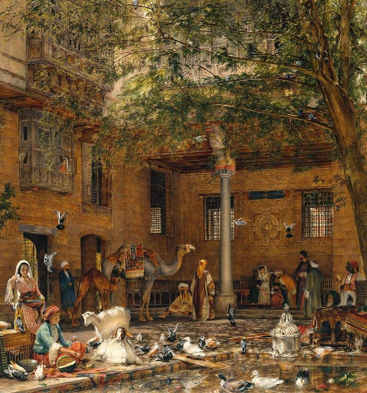 John Frederick Lewis: Study for 'The Courtyard of the Coptic Patriarch's House in Cairo'