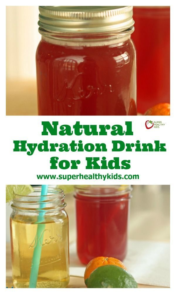 Natural Hydration Drink Recipe for Kids. Hydrate naturally with this easy recipe! www.superhealthykids.com/natural-hydration-drink-for-kids