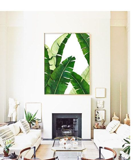 Banana Leaf Poster PRINTABLE FILE BG1 - palm art, palm illustration, banana leaf, tropical plant, beverly hills, extra large, oversized art by Dantell on Etsy https://www.etsy.com/listing/170594383/banana-leaf-poster-printable-file-bg1
